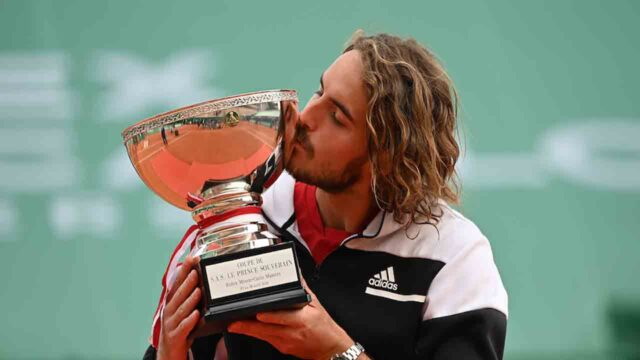 Tsitsipas with monte-carlo masters trophy