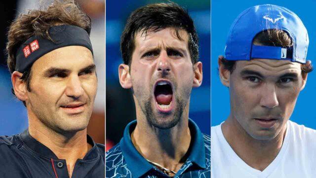 Roger Federer Novak Djokovic Rafael Nadal Big 3