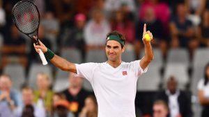 Roger Federer at the Wimbledon 2021
